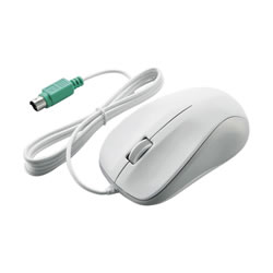 ELECOM M-K6P2RWH/RS 光学式マウス/PS2/3ボタン/ホワイト/ROHS指令準拠