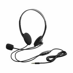 ELECOM HS-HP22TBK タブレット用ヘッドセット(両耳小型オーバーヘッドタイプ)