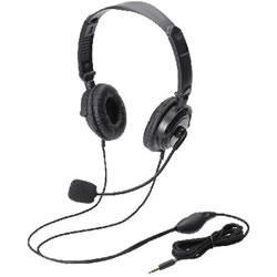 ELECOM HS-HP20TBK ヘッドセット(4極両耳折りたたみオーバーヘッド)