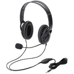 ELECOM HS-HP23TBK ヘッドセット(4極両耳大型オーバーヘッド)