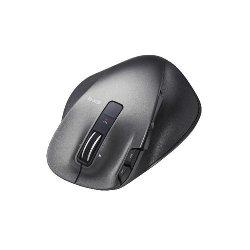 ELECOM M-XGL20DLBK ULTIMATE LASERマウス/握りの極み/Lサイズ/無線/2.4GHz/8ボタン+チルト/ブラック