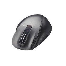 ELECOM M-XGM20DLBK ULTIMATE LASERマウス/握りの極み/Mサイズ/無線/2.4GHz/8ボタン+チルト/ブラック