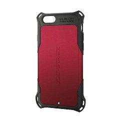 ELECOM PM-A15ZERORD iPhone6s/6用ZEROSHOCKケース/レッド