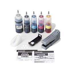 ELECOM THC-326321RSET キヤノン 325+326/320+321用詰め替えインクセット