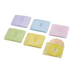ELECOM CCD-NBWB60ASO Blu-ray・CD・DVD対応不織布ケース 2穴