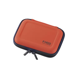 ELECOM HDC-SH001DR ポータブルHDDケース(セミハード)