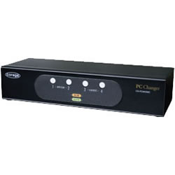 コレガ CG-PC4KVMC-W PC4台用 パソコン自動切替器