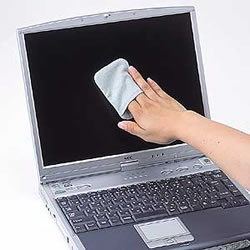 サンワサプライ CD-CC23BL ディスプレイクリーニングパッド(ブルー)