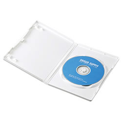 サンワサプライ DVD-TN1-10W DVDトールケース(1枚収納)