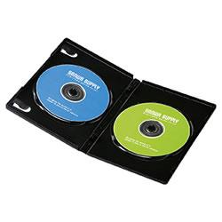 サンワサプライ DVD-TN2-03BK DVDトールケース(2枚収納)