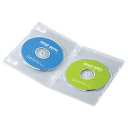 サンワサプライ DVD-TN2-03C DVDトールケース(2枚収納)