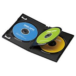 サンワサプライ DVD-TN3-03BK DVDトールケース(3枚収納)