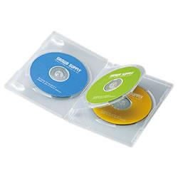 サンワサプライ DVD-TN3-03C DVDトールケース(3枚収納)