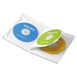 サンワサプライ DVD-TN3-03W DVDトールケース(3枚収納)