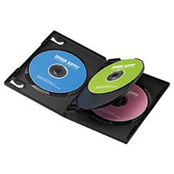 サンワサプライ DVD-TN4-03BK DVDトールケース(4枚収納)