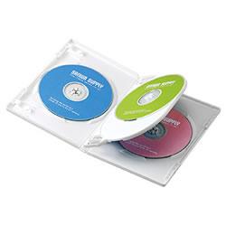 サンワサプライ DVD-TN4-03W DVDトールケース(4枚収納)