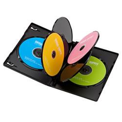 サンワサプライ DVD-TN6-03BK DVDトールケース(6枚収納)