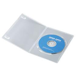 サンワサプライ DVD-TU1-10C スリムDVDトールケース(1枚収納)