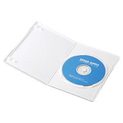 サンワサプライ DVD-TU1-10W スリムDVDトールケース(1枚収納)