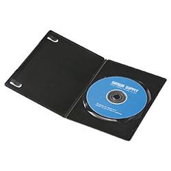 サンワサプライ DVD-TU1-30BK スリムDVDトールケース(1枚収納)