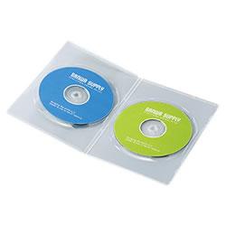 サンワサプライ DVD-TU2-10C スリムDVDトールケース(2枚収納)
