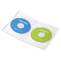 サンワサプライ DVD-TU2-10W スリムDVDトールケース(2枚収納)