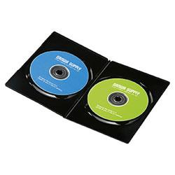 サンワサプライ DVD-TU2-30BK スリムDVDトールケース(2枚収納)