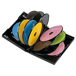 サンワサプライ DVD-TW12-01BK DVDトールケース(12枚収納)