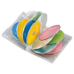 サンワサプライ DVD-TW12-03C DVDトールケース(12枚収納)