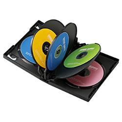 サンワサプライ DVD-TW8-01BK DVDトールケース(8枚収納)