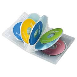 サンワサプライ DVD-TW8-03C DVDトールケース(8枚収納)