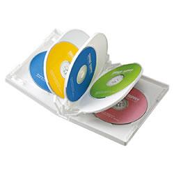 サンワサプライ DVD-TW8-03W DVDトールケース(8枚収納)