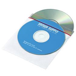 サンワサプライ FCD-FT50W 裏面シール付DVD・CD不織布ケース