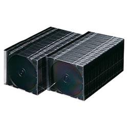 サンワサプライ FCD-PU100MBK DVD・CDケース(マットブラック)