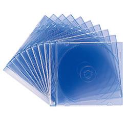 サンワサプライ FCD-PU10BL DVD・CDケース(クリアブルー)