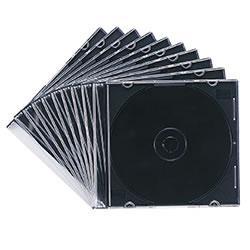 サンワサプライ FCD-PU10MBK DVD・CDケース(マットブラック)