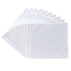 サンワサプライ FCD-PU10MW DVD・CDケース(マットホワイト)