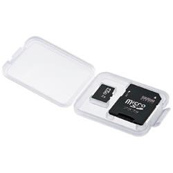 サンワサプライ FC-MMC10MIC メモリーカードクリアケース(microSD用)