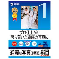 サンワサプライ JP-EP4NA4 インクジェット写真印画紙・絹目