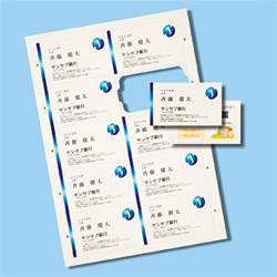 サンワサプライ JP-MCCM01BG マルチタイプまわりがきれいな名刺カード