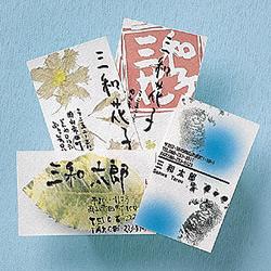 サンワサプライ JP-MCWASHI インクジェット和紙名刺カード