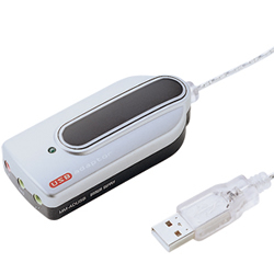 サンワサプライ MM-ADUSB USBオーディオ変換アダプタ(シルバー)