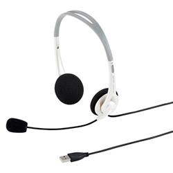 サンワサプライ MM-HSUSB16W USBヘッドセット(ホワイト)
