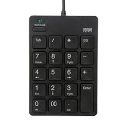 サンワサプライ NT-18UH2BK USB2.0ハブ付テンキー