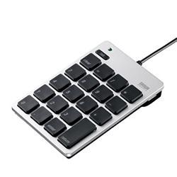 サンワサプライ NT-M18UHSV USB2.0ハブ付テンキー