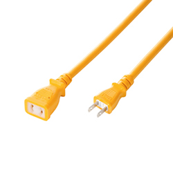 サンワサプライ TAP-EX12-10Y 電源延長コード(抜け止め、10m)