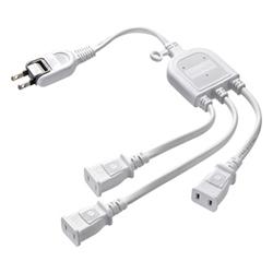 サンワサプライ TAP-EX3WN ACアダプタ専用電源延長コード