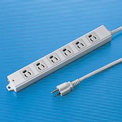 サンワサプライ TAP-K6-5 工事物件タップ(6個口・5m)