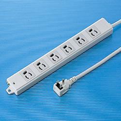 サンワサプライ TAP-K6L-1 工事物件タップ(6個口・1m)