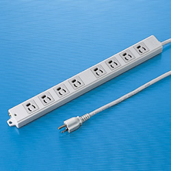サンワサプライ TAP-K8-1 工事物件タップ(8個口・1m)